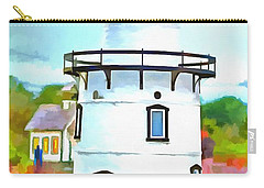 Lighthouse At Old Saybrook Point Carry-all Pouch