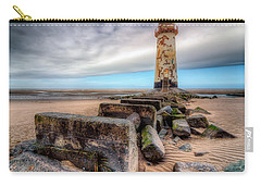 Lighthouse At Talacre  Carry-all Pouch by Adrian Evans