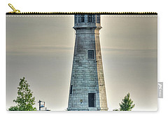 Lighthouse Just Before Sunset At Erie Basin Marina Carry-all Pouch by Michael Frank Jr