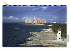 Lighthouse On Colonial Beach With Atlantis Paradise Resort Bahamas Carry-all Pouch