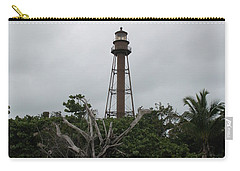 Carry-all Pouch featuring the photograph Lighthouse On Sanibel Island by Christiane Schulze Art And Photography