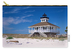 Lighthouse On The Beach, Port Boca Carry-all Pouch by Panoramic Images