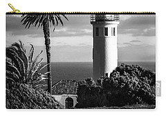 Carry-all Pouch featuring the photograph Lighthouse On The Bluff by Jerry Cowart