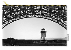 Lighthouse Under Golden Gate Carry-all Pouch by Holly Blunkall