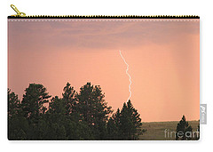 Carry-all Pouch featuring the photograph Lighting Strikes In Custer State Park by Bill Gabbert