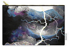 Carry-all Pouch featuring the painting Lightning by Daniel Janda
