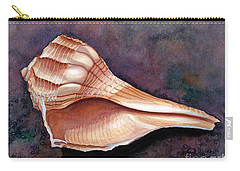 Lightning Whelk Carry-all Pouch by Barbara Jewell