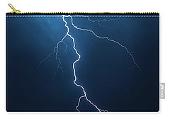Lightning With Cloudscape Carry-all Pouch