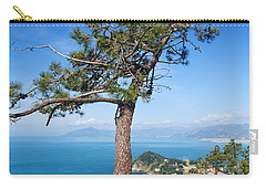Carry-all Pouch featuring the photograph Liguria - Tigullio Gulf by Antonio Scarpi