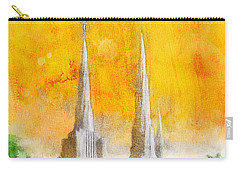Carry-all Pouch featuring the painting Like A Fire Is Burning by Greg Collins