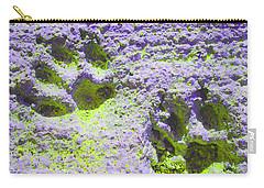 Lilac And Green Pawprints Carry-all Pouch