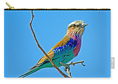Lilac-breasted Roller In Kruger National Park-south Africa Carry-all Pouch