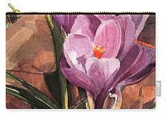 Lilac Crocuses Carry-all Pouch