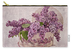 Carry-all Pouch featuring the photograph Lilacs In The Box by Sandra Foster