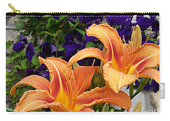Lilies And Clematis Carry-all Pouch