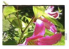 Lilies In The Garden Carry-all Pouch by Sher Nasser