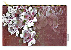 Carry-all Pouch featuring the photograph Lilies In Vase by Diane Alexander