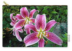 Carry-all Pouch featuring the photograph Lilies Of The Field by Lingfai Leung
