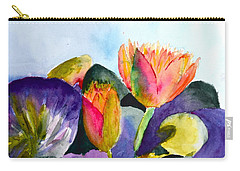 Lilies Of The Water Carry-all Pouch by Beverley Harper Tinsley