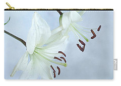 Lilies On Blue Carry-all Pouch