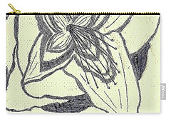 Carry-all Pouch featuring the drawing Lilly Artistic Doodling Drawing by Joseph Baril