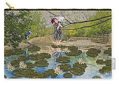 Carry-all Pouch featuring the digital art Lilly Pad Lane by Liane Wright