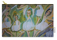 Carry-all Pouch featuring the painting Lily Allegro Ballet by Judith Desrosiers