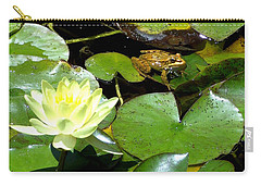 Lily And Amphibian Friend Carry-all Pouch