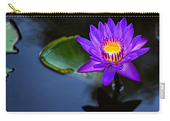Carry-all Pouch featuring the photograph Lily Awakens by Dave Files