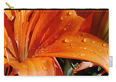 Carry-all Pouch featuring the photograph Lily Drops by Kerri Mortenson