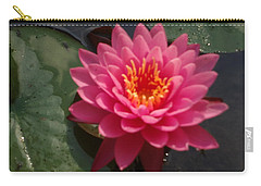 Carry-all Pouch featuring the photograph Lily Flower In Bloom by Michael Porchik