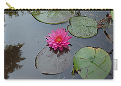 Carry-all Pouch featuring the photograph Lily Flower by Michael Porchik