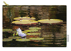 Carry-all Pouch featuring the photograph Lily Pad by Kathy Churchman
