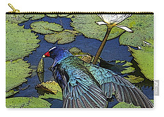 Lily Pad With Bird Carry-all Pouch