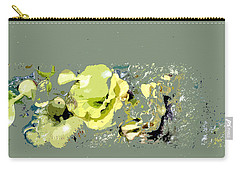 Carry-all Pouch featuring the digital art Lily Pads - Deconstructed by Lauren Radke