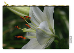 Carry-all Pouch featuring the photograph Lily Pure by Denyse Duhaime