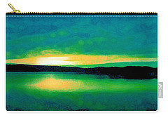 Lime Sunset Carry-all Pouch