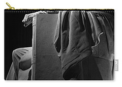 Lincoln In Black And White Carry-all Pouch