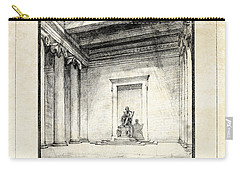 Lincoln Memorial Sketch IIi Carry-all Pouch by Gary Bodnar