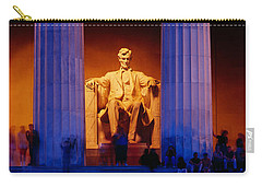Lincoln Memorial, Washington Dc Carry-all Pouch by Panoramic Images