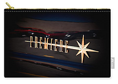 Carry-all Pouch featuring the photograph Lincoln Premiere Emblem by Joann Copeland-Paul