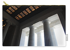 Lincoln Stained Glass And Columns Carry-all Pouch