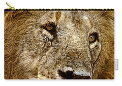 Lion 01 Carry-all Pouch by Wally Hampton