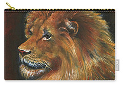 Carry-all Pouch featuring the painting Lion by Alga Washington