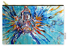 Lion Fish Blue Carry-all Pouch
