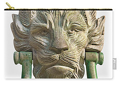 Lion Head Antique Door Knocker On White Carry-all Pouch by Jane McIlroy