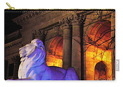Lion Nyc Public Library Carry-all Pouch