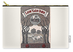 Antique Lion Yarn Book Carry-all Pouch by Peter Gumaer Ogden
