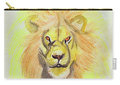 Lion Yellow Carry-all Pouch by First Star Art