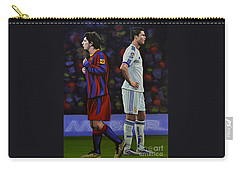 Lionel Messi And Cristiano Ronaldo Carry-all Pouch by Paul Meijering